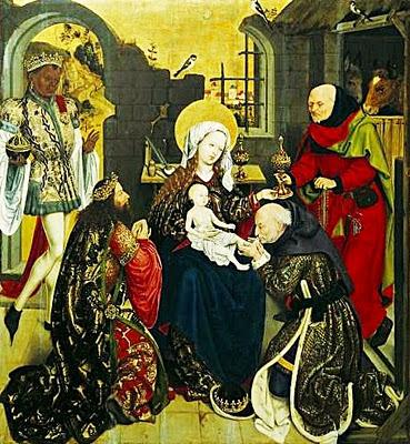 """""""Anbetung der Heiligen Drei Könige"""", um 1470, Öl auf Eichenholz"""