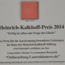 Die Krönung eines erfolgreichen Jahres: Der Heinrich-Kalkhoff-Preis 2014