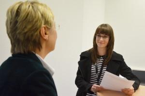 Stellte sich den Fragen von laurentinews.de Redakteurin Nicola: Kultusministerin Frauke Heiligenstadt.