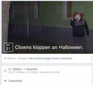 Vom Jäger zum Gejagten: Inzwischen verabreden sich Menschen via Facebook zur Clown-Jagd.